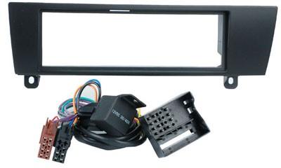 1-DIN frame, BMW 1 (E87)04 >/BMW 3 (E90)05> + ISO-kabel