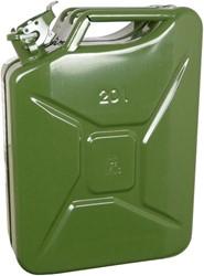 Benzinekan 20Ltr. groen metaal TUV/GS