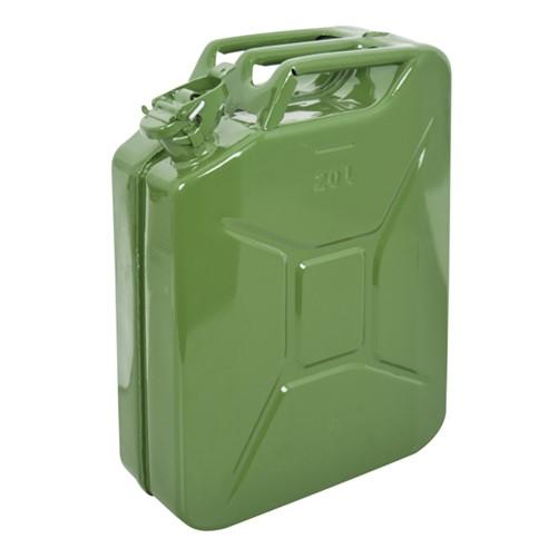 Benzinekan 20Ltr Gr/Metaal UN-keur