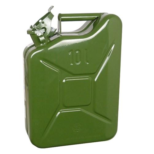 Benzinekan 10Ltr Gr/Metaal UN-keur
