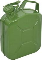 Benzinekan 5Ltr. groen metaal UN-keur