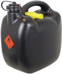 Benzinekan 10Ltr. 580gr zwart UN/BAM