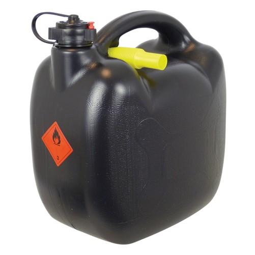 Benzinekan 10L zwart UN/BAM