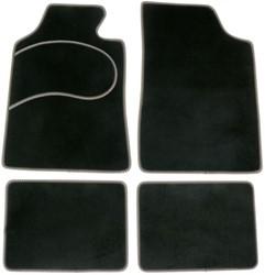 Mattenset 4-delig type A zwart/grijs