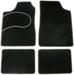 Mattenset 4-delig type B  Zwart/grijs