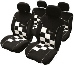 Stoelhoesset 8-delig Racing wit airbag