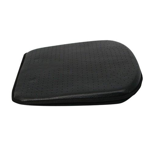 Luxe zitkussen Leather Look zwart