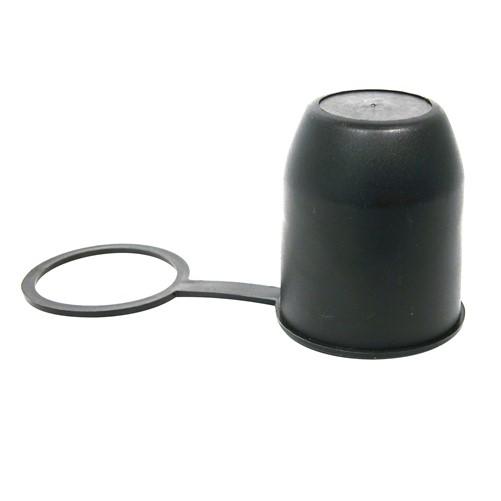 Trekhaakdop met ring zwart