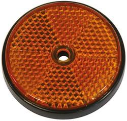 Reflector rond 70mm oranje bulk
