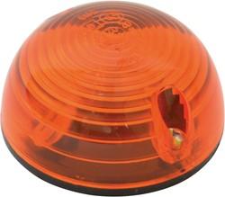 Paddestoellampjes oranje 2st 12V ø55mm
