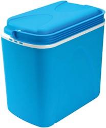 Koelbox 24L blauw/wit