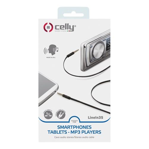 Celly Audiokabel 3.5mm zwart