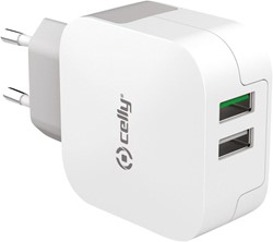 Celly Thuislader 2 USB 3.4A Wit