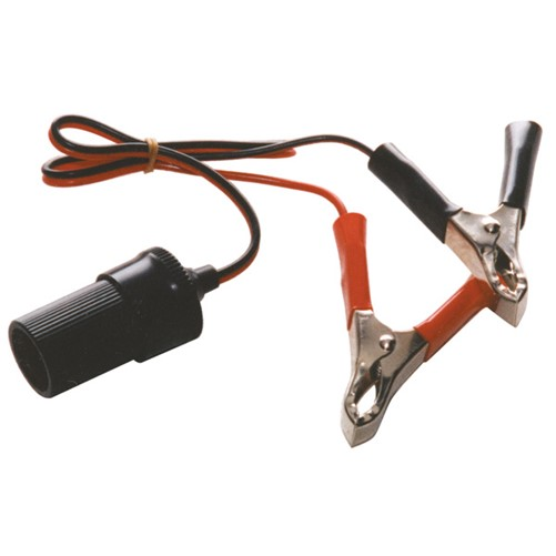 Aanstekerdoos met accuklemmen 12-24V 10A