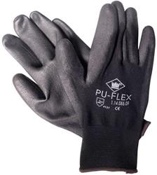 Pu-flex zwart handschoen mt. 11 xxl