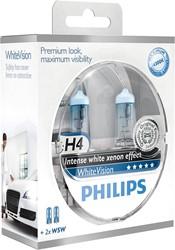 Philips 12258WHVSM H4 White vision set