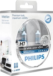 Philips 12972WHVSM H7 WhiteVision (2xH7 + 2xW5W)