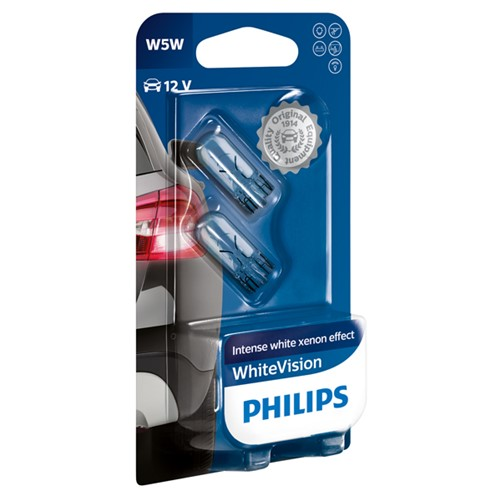 Philips 12961NBVB2 W5W White Vision