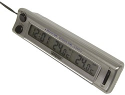 Thermometer Binnen/Buiten m/Klok