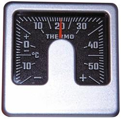 Thermometer Binnen Vierk Alu-Look