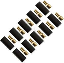 Flat connector 6,0mm², 2,8mm Black 10pcs