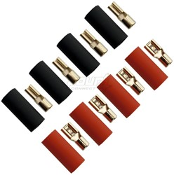 Flat connector Set 6,0mm² ( 4,8+2,8 )  4x Red+ 4x Black