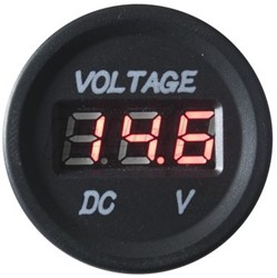 4CONNECT WATERPROOF 9-24V INPUT VOLTAGE DISPLAY  (RED)