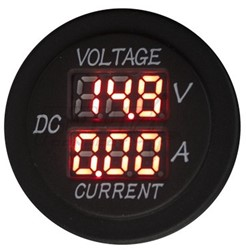 4CONNECT WATERPROOF 12/24V VOLTAGE & CURRENT DISPLAY  (RED)