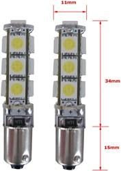 BA9s 13 SMD Canbus LED Stadslicht Wit