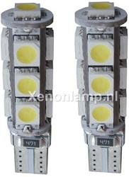 13 SMD CANBUS LED Stadslicht W5W T10
