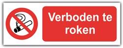 Bord verboden te roken 33x12cm