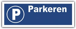 Bord parkeerplaats 33x12cm