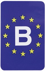 Sticker Europa/Belgie Rechthoek