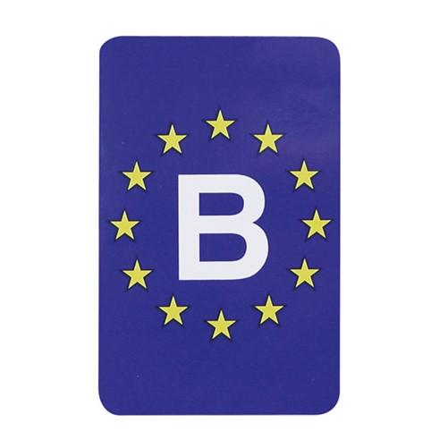 Sticker Europa/Belgie rechthoekig
