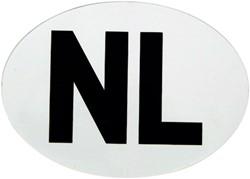 NL Stickers Wit Vinyl 112x80mm 20st