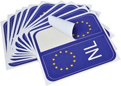 NL/EU nummerplaatsticker(10vel x 2)