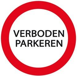 Plaat Parkeren Verboden Rond