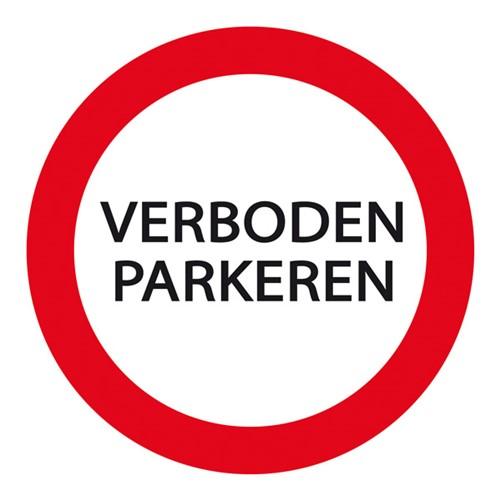 Plaat Parkeren Verboden 24cm rond