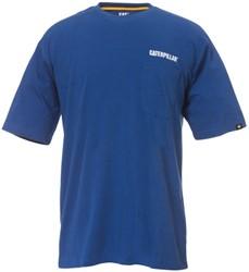 CAT T-Shirt WORKMAN POCKET, blauw