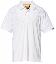 CAT Polo-Shirt ADVANCED, wit, M