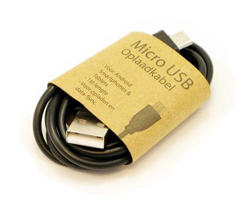 GrabNGo Micro USB laadkabel zwart