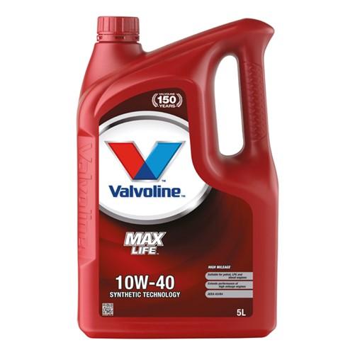 Valvoline 872297 Maxlife motor oil 10W40 5L