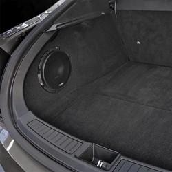 """Custom 10""""""""subbox voor Tesla S met APS 10 D 2 x 4 Ohm 400 Watt RMS"""