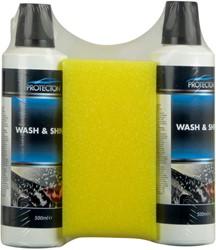 Protecton Wash & shine set 2x 500ml met spons