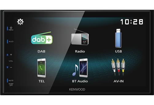 Kenwood DMX125DAB Multimedia Systeem
