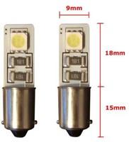 2 SMD CANBUS LED Stadslicht BA9S Wit-2