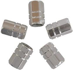 Ventieldopjes Zuiger Zilver 5st