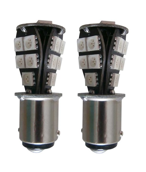 18 SMD Canbus LED verlichting 24v BA15d - rood