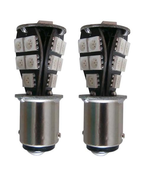 18 SMD Canbus LED verlichting 24v BA15s - geel