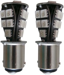 18 SMD Canbus LED verlichting 24v BAU15s - geel